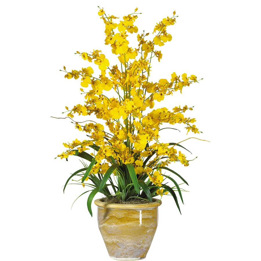 Nearly Natural 32-in Yellow Silk Arrangement