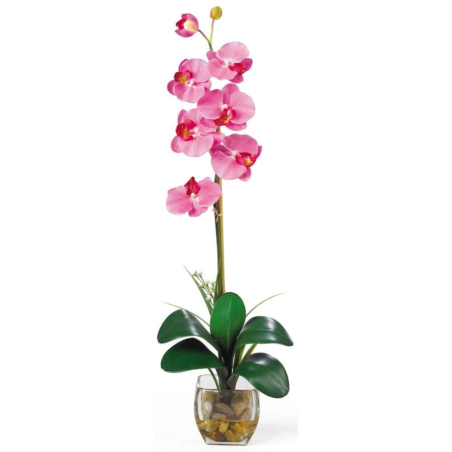 Nearly Natural 27-in Dark Pink Silk Arrangement