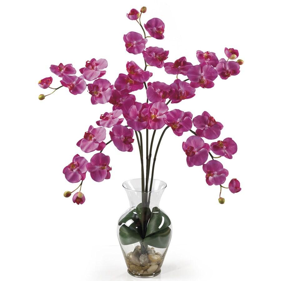 Nearly Natural 31-in Dark Pink Silk Arrangement