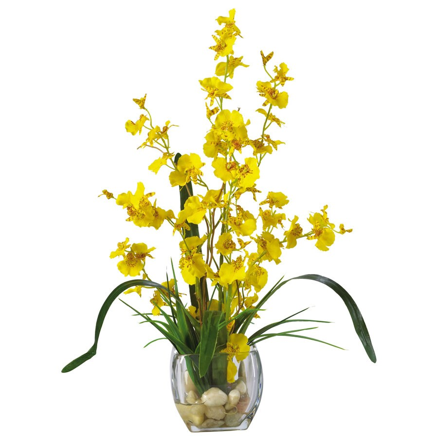 Nearly Natural 19-in Yellow Silk Arrangement
