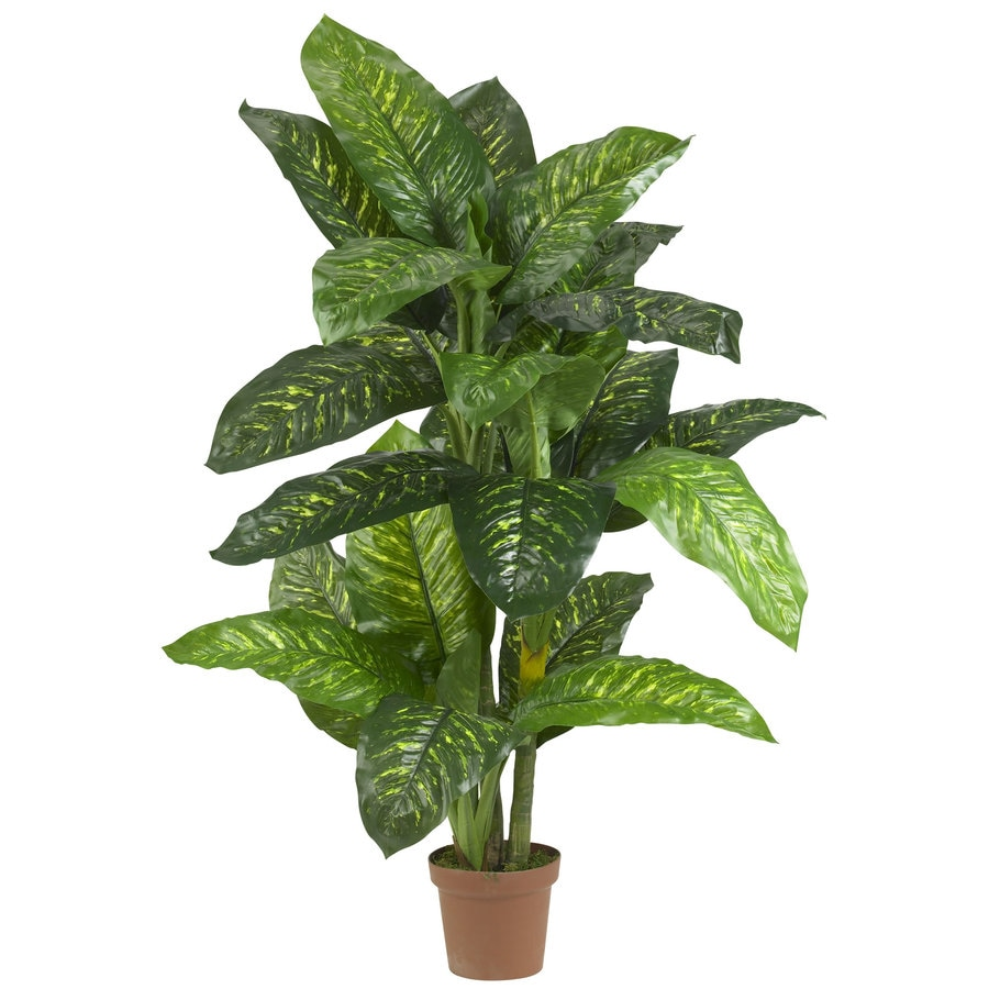 Shop Nearly Natural 60-in Green Silk Plant at Lowes com