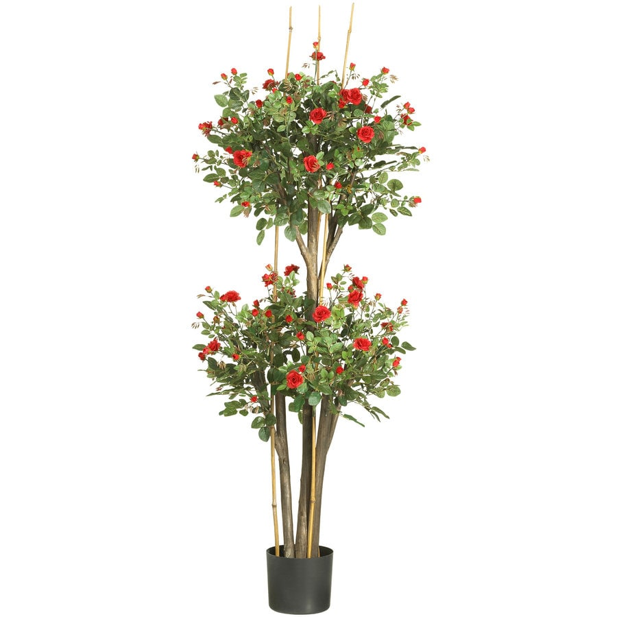 Nearly Natural 60-in Red Silk Tree