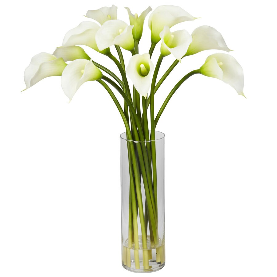 Nearly Natural 20-in Cream Silk Arrangement
