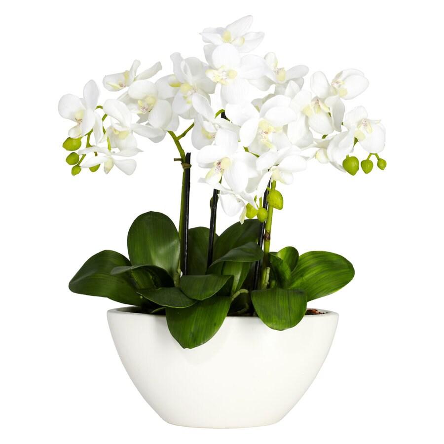 Nearly Natural 16-in White Silk Arrangement