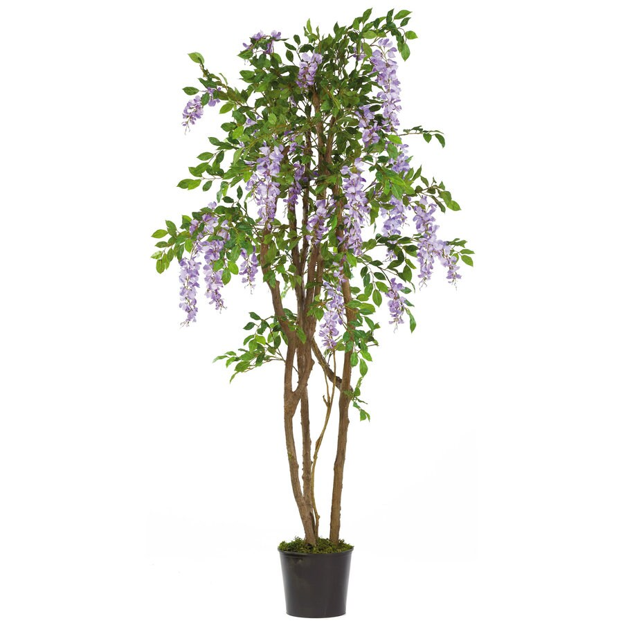 Nearly Natural 60-in Purple Silk Tree