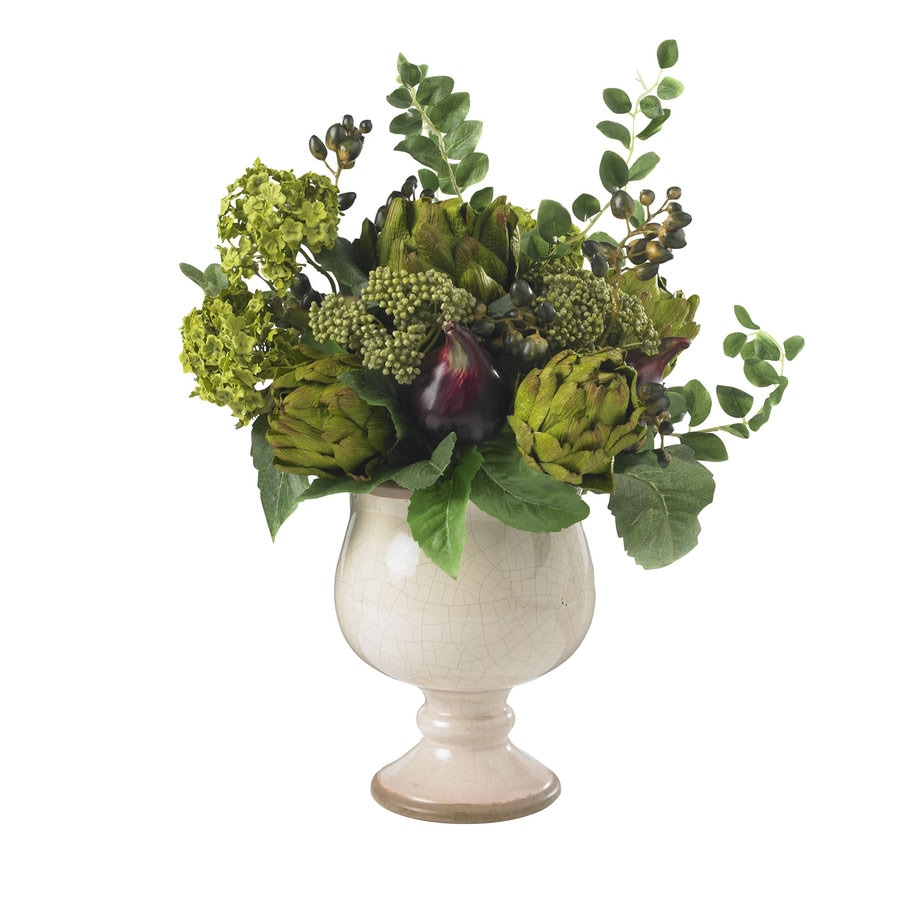 Nearly Natural 15-in Green Silk Arrangement