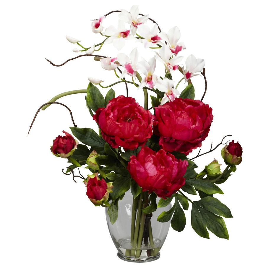 Nearly Natural 21.5-in Red Silk Arrangement