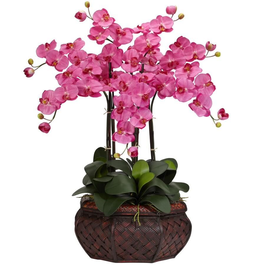 Nearly Natural 30-in Dark Pink Silk Arrangement