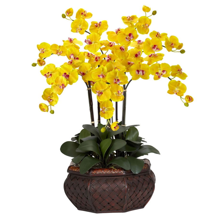 Nearly Natural 30-in Yellow Silk Arrangement