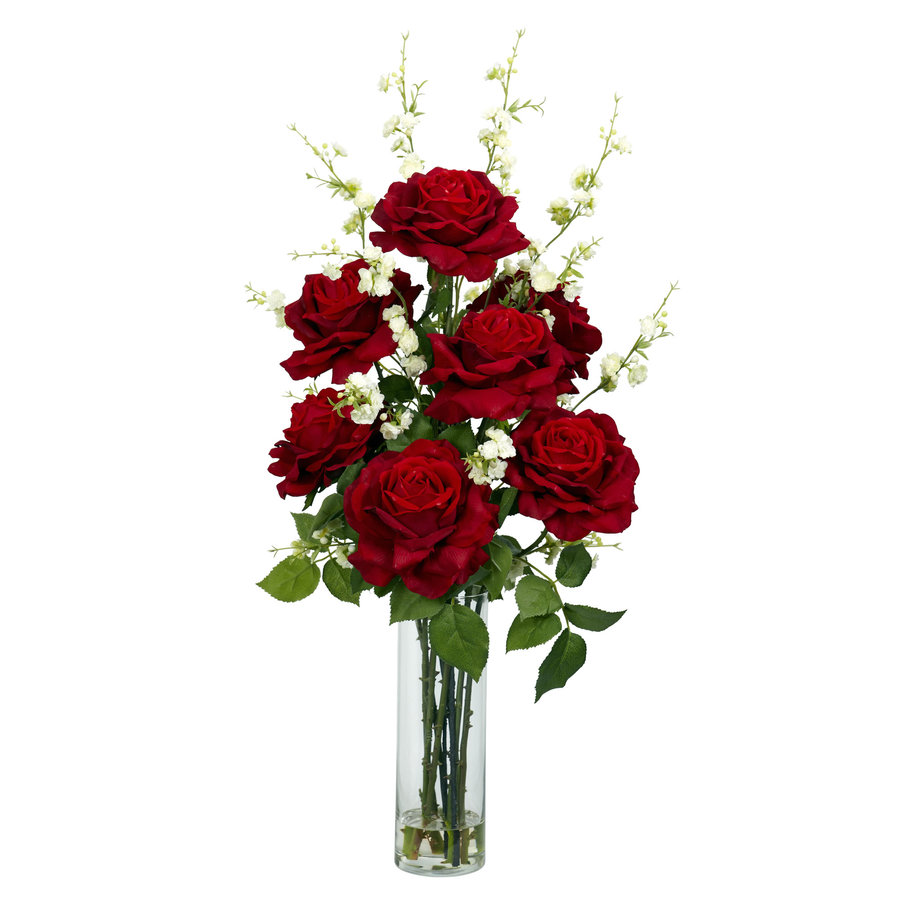 Nearly Natural 29-in Red Silk Arrangement