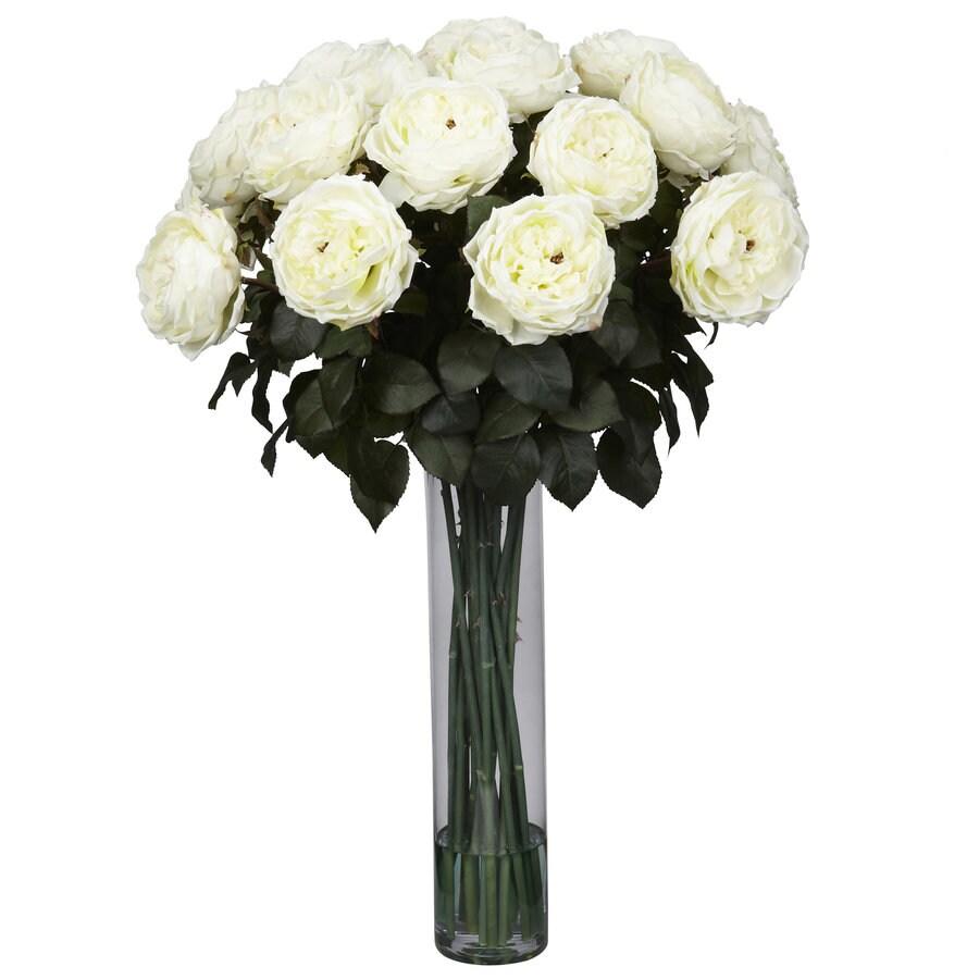 Nearly Natural 31-in White Silk Arrangement