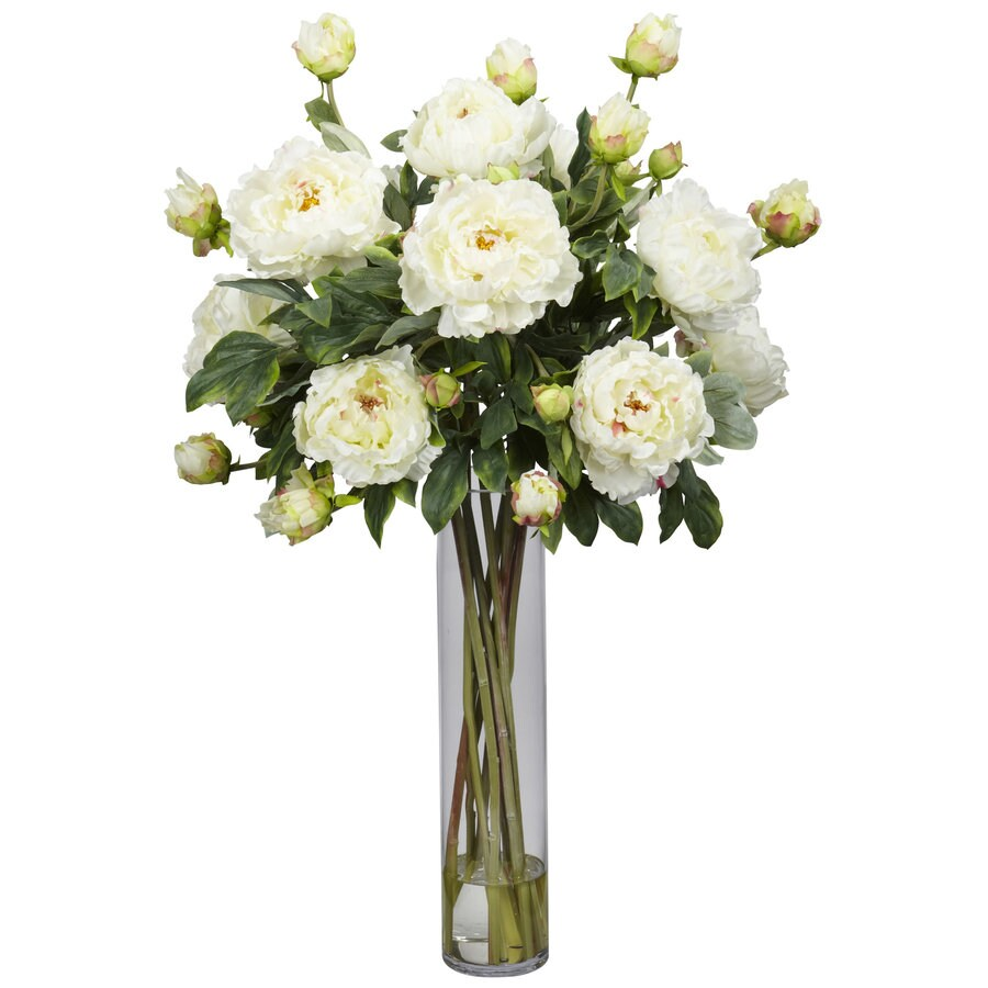 Nearly Natural 32-in White Silk Arrangement