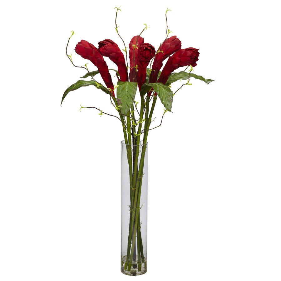Nearly Natural 36-in Red Silk Arrangement