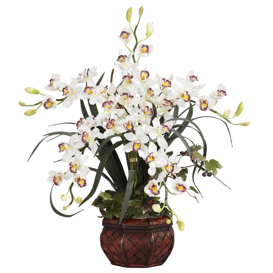 Nearly Natural 30-in White Silk Arrangement