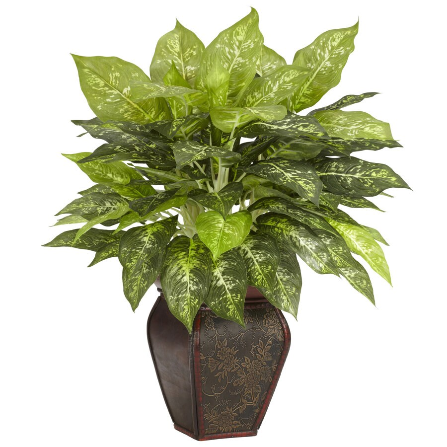 Nearly Natural 23-in Green Silk Plant