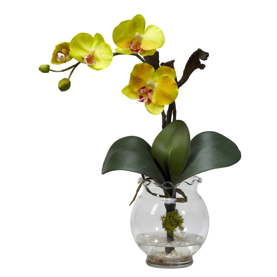 Nearly Natural 15-in Yellow Silk Arrangement