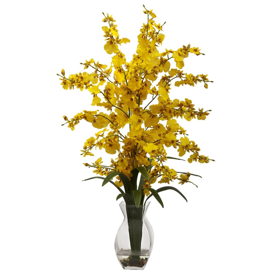 Nearly Natural 25-in Yellow Silk Arrangement