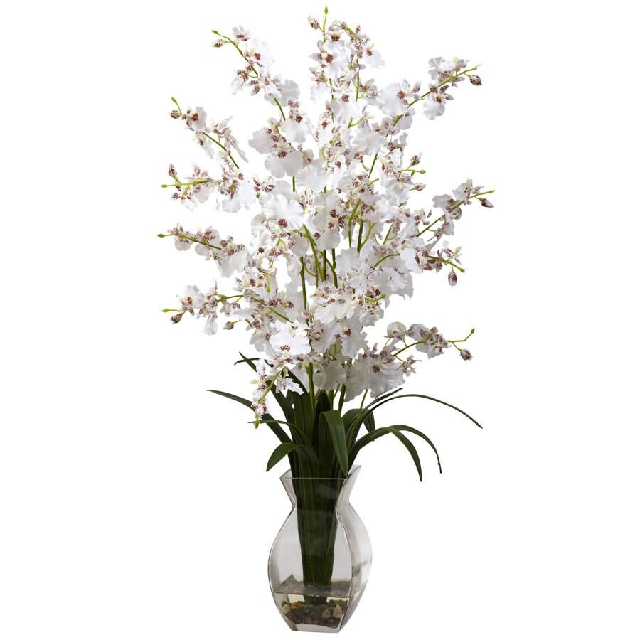 Nearly Natural 25-in White Silk Arrangement
