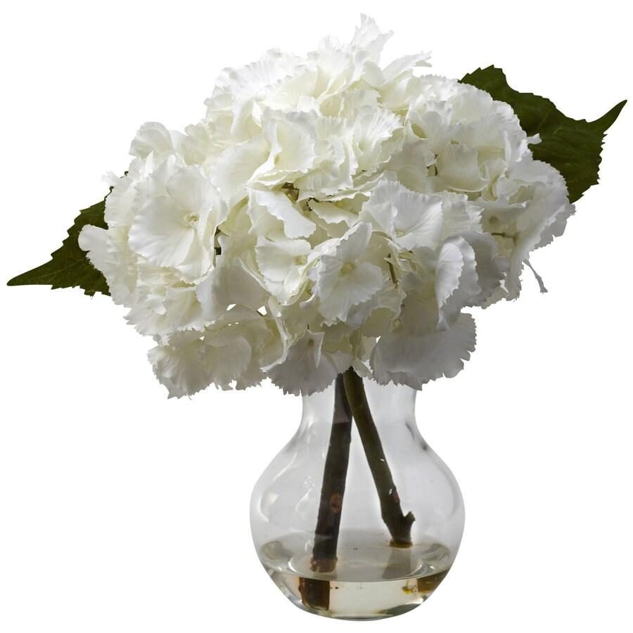 Nearly Natural 13-in White Silk Arrangement