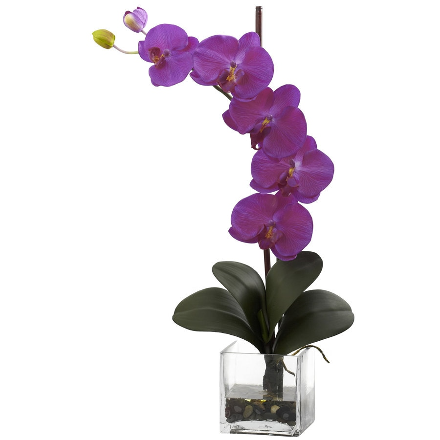 Nearly Natural 26-in Orchid Silk Arrangement