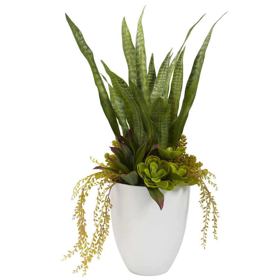 Nearly Natural 9-in Green Silk Plant