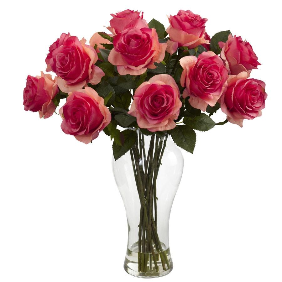 Nearly Natural 18-in Light Pink Silk Arrangement