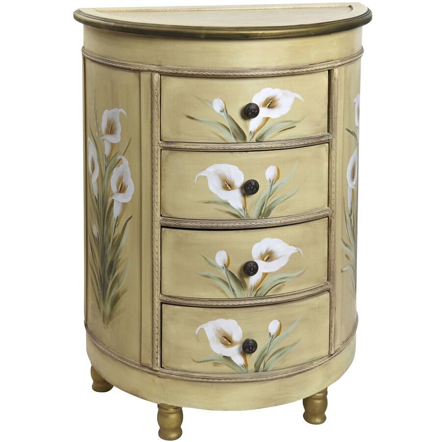 Nearly Natural 31.75-in Cream Furniture