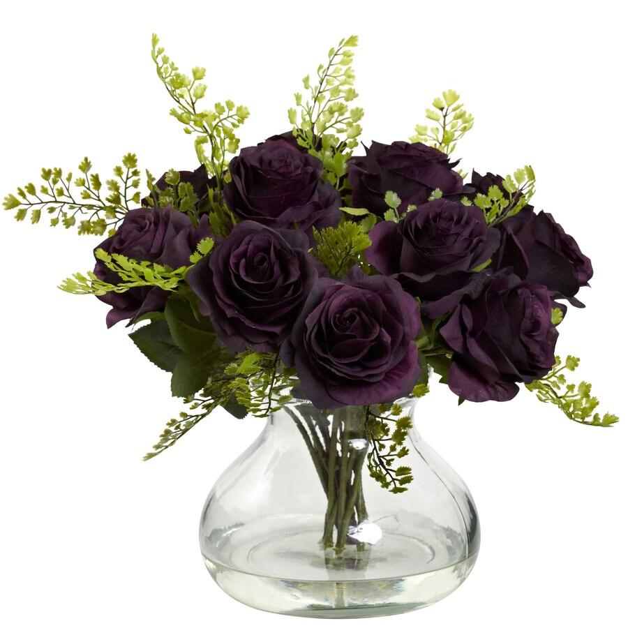 Nearly Natural 14-in Purple Silk Arrangement