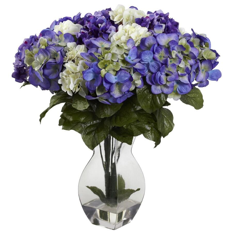 Nearly Natural 20-in Purple Silk Arrangement