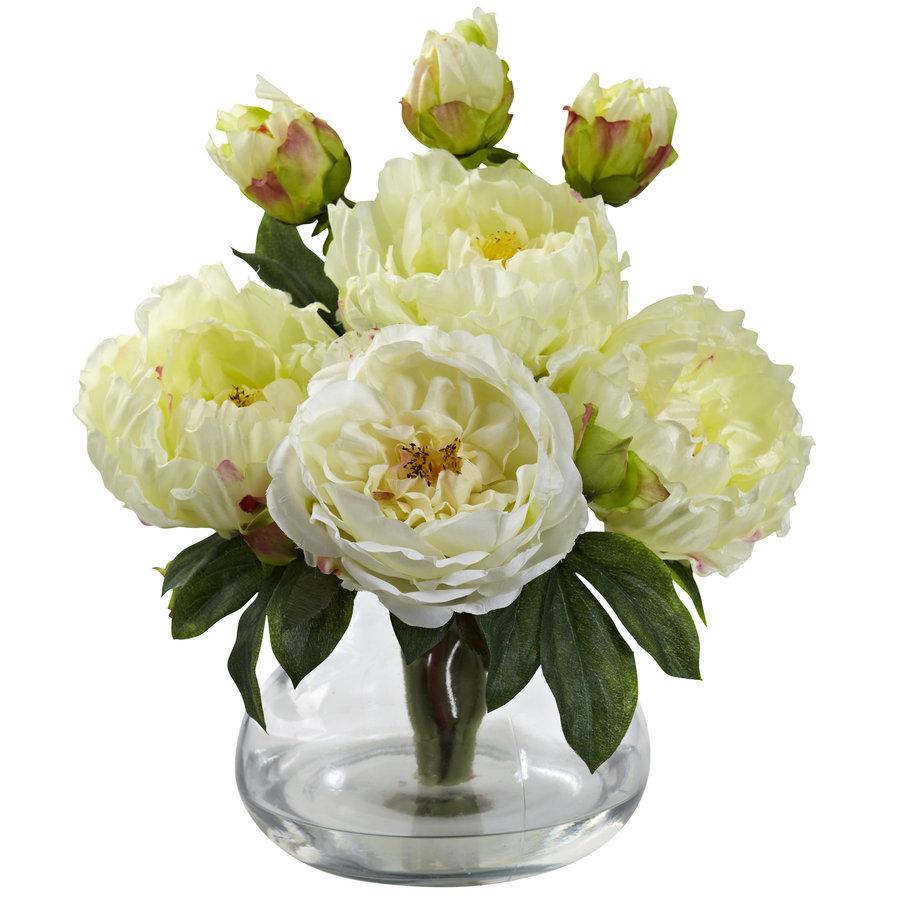 Nearly Natural 14.5-in White Silk Arrangement