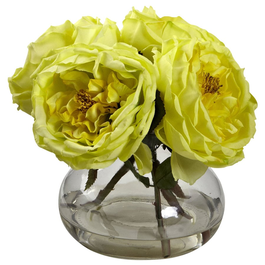 Nearly Natural 8-in Yellow Silk Arrangement