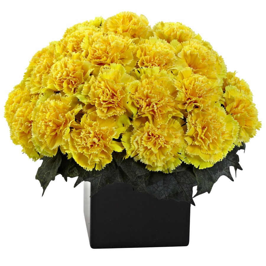 Nearly Natural 11-in Yellow Silk Arrangement