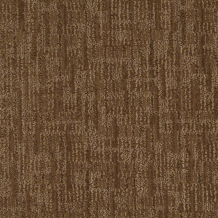 STAINMASTER Unmistakable Active Family Almond Crunch Cut and Loop Carpet Sample