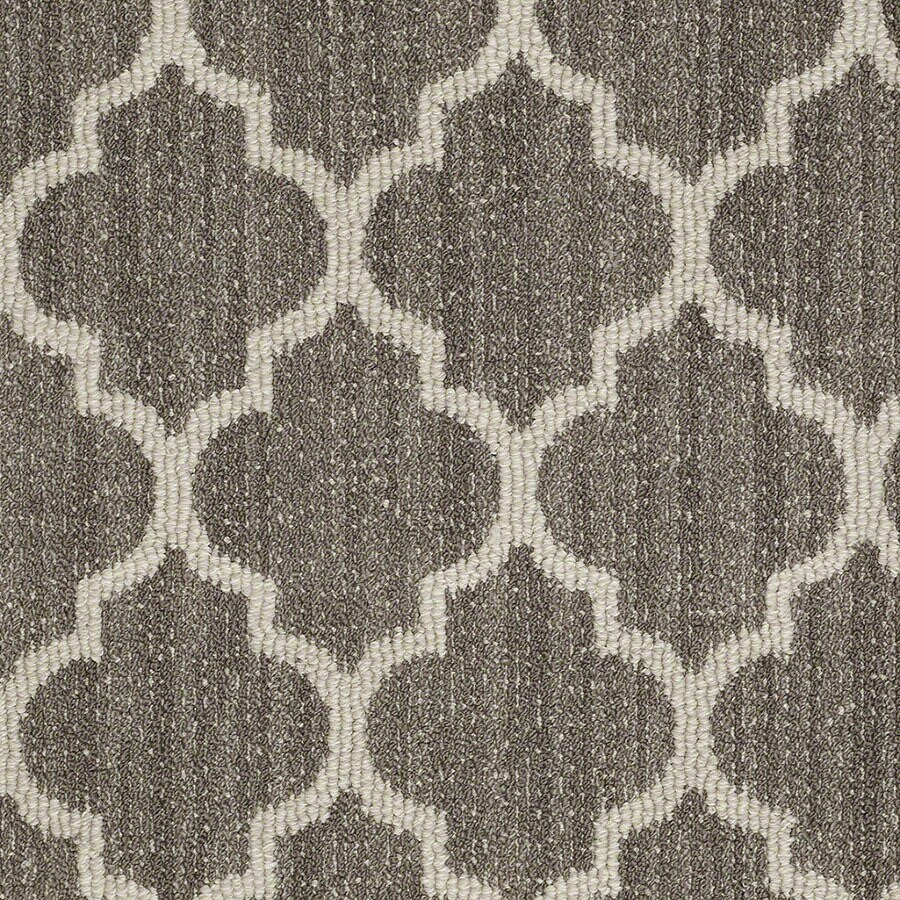 STAINMASTER Rave Review Active Family Windsor Gray Berber Carpet Sample