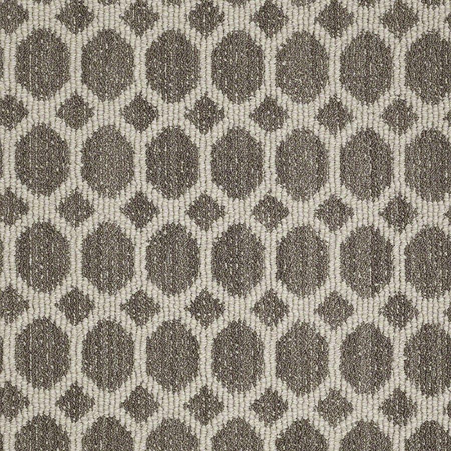 STAINMASTER All The Rage Active Family Windsor Gray Berber Carpet Sample