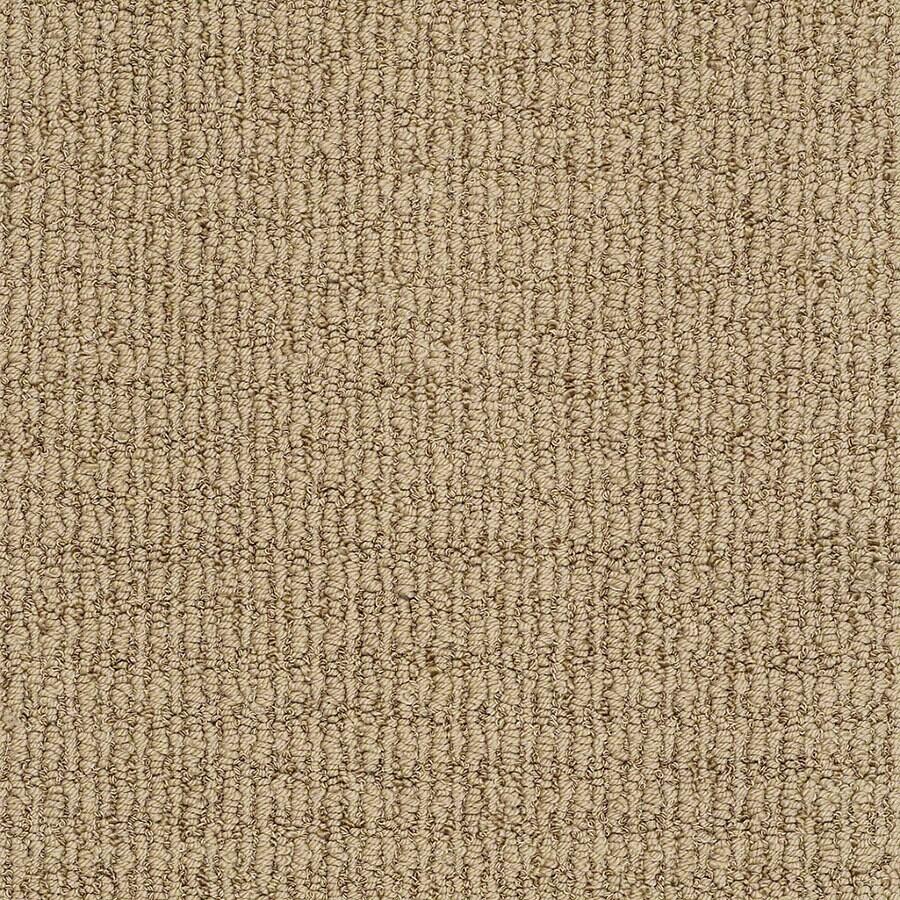STAINMASTER Uneqivocal Trusoft Maxi Tan Berber Carpet Sample