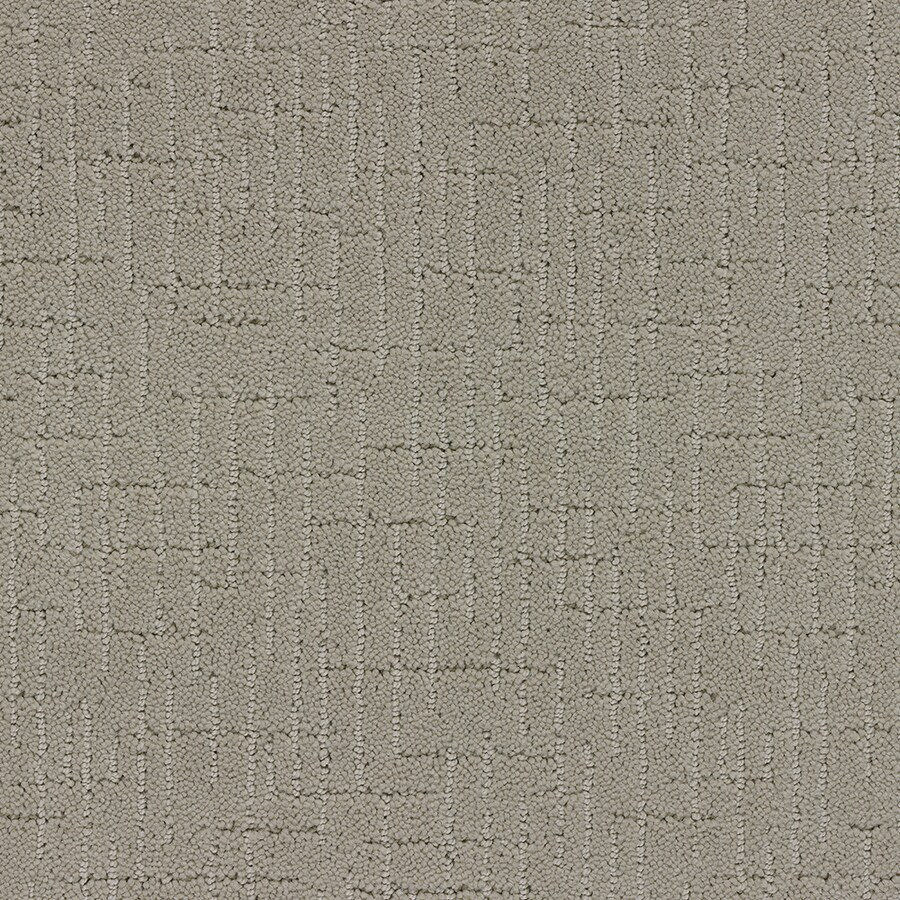 STAINMASTER Gates Mills TruSoft Sugar Cookie Cut and Loop Carpet Sample