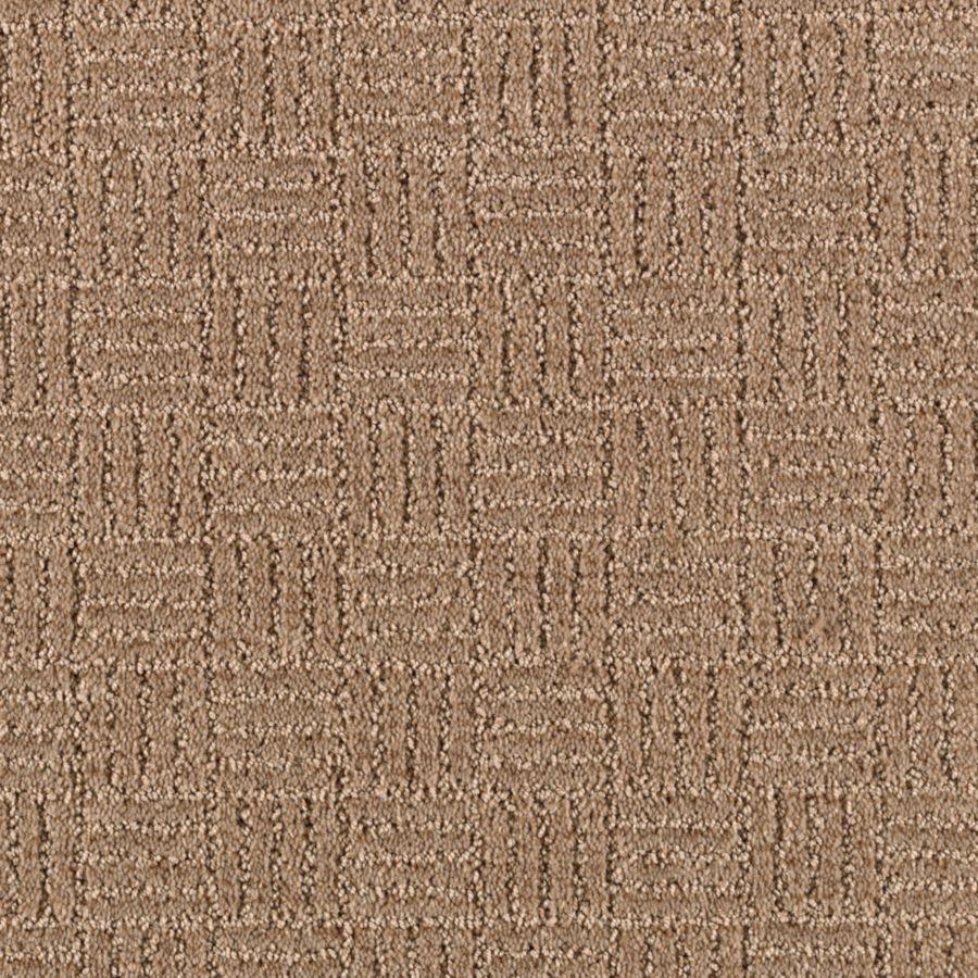STAINMASTER Stylesboro Essentials Nougat Cut and Loop Carpet Sample