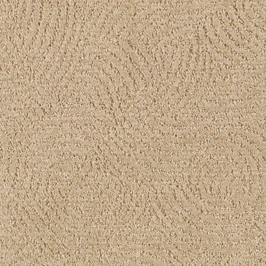 STAINMASTER Fashionboro Essentials Flaxen Cut and Loop Carpet Sample