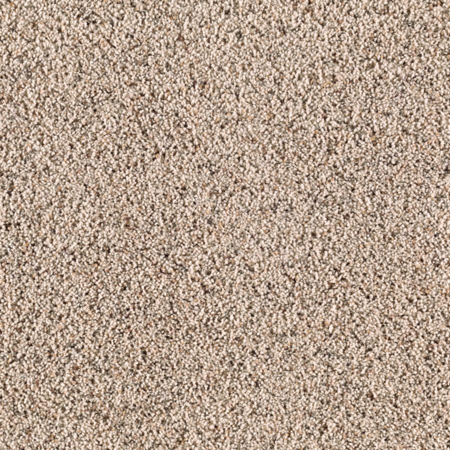 STAINMASTER Renewed Style I Essentials Shore Beige Frieze Carpet Sample