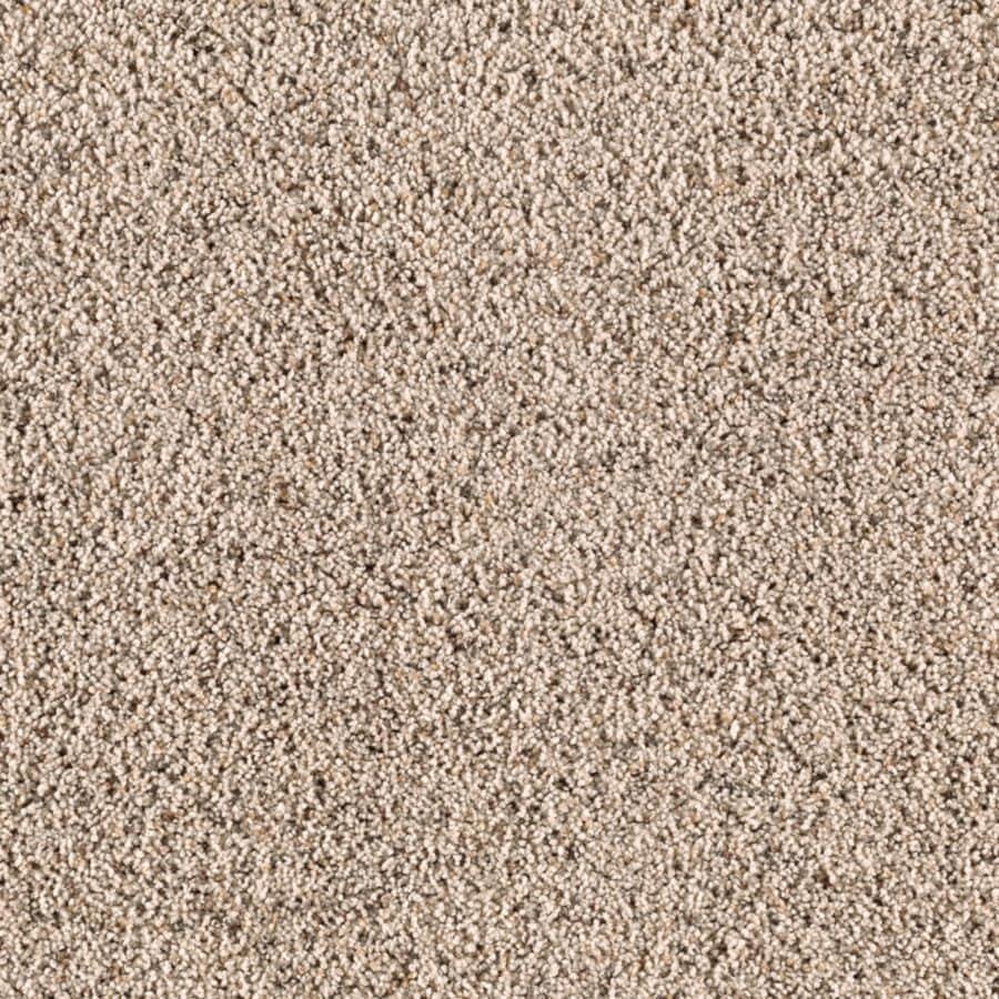 STAINMASTER Renewed Style II Essentials Shore Beige Frieze Carpet Sample