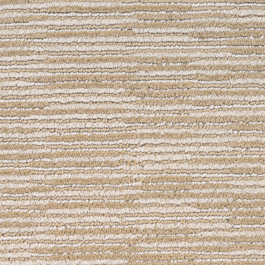 STAINMASTER Plantation Cove PetProtect Bahama Sand Cut and Loop Carpet Sample