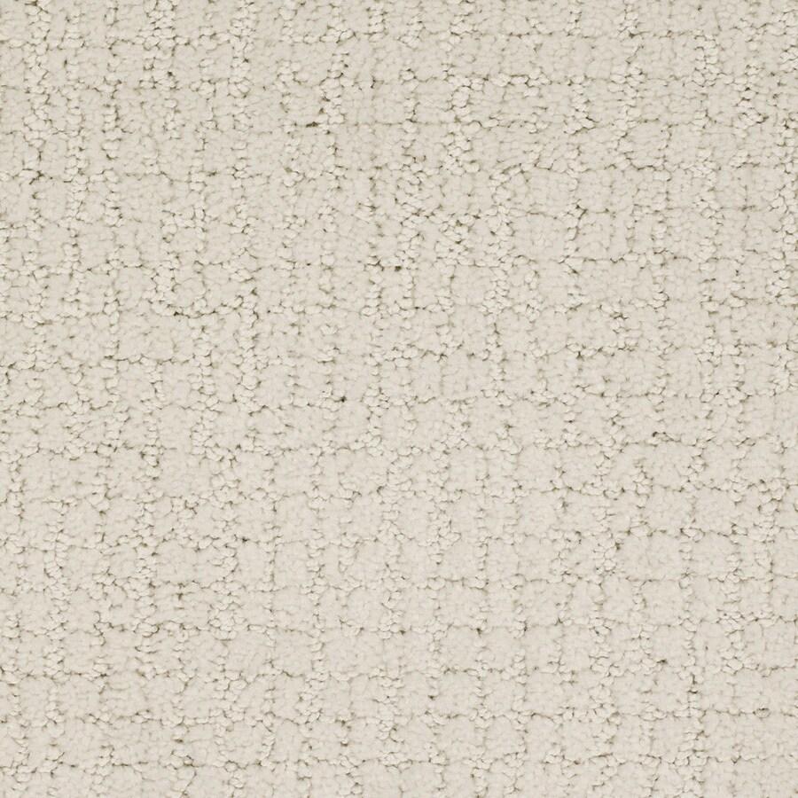 STAINMASTER Perpetual TruSoft Cream/Beige/Almond Cut and Loop Carpet Sample