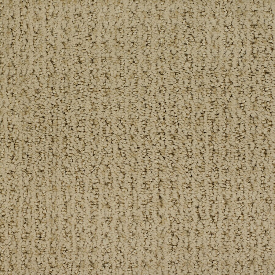 STAINMASTER Salena Trusoft Yellow/Gold Cut and Loop Carpet Sample