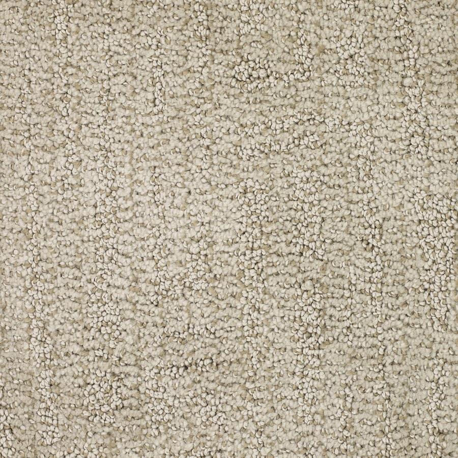 STAINMASTER Regatta Trusoft Cream/Beige/Almond Cut and Loop Carpet Sample