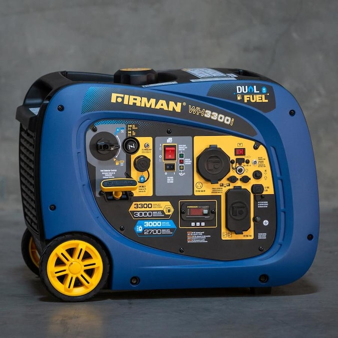 Firman Whisper Hybrid Series 3000-Watt Copper Brushless Gasoline/Propane Portable Generator