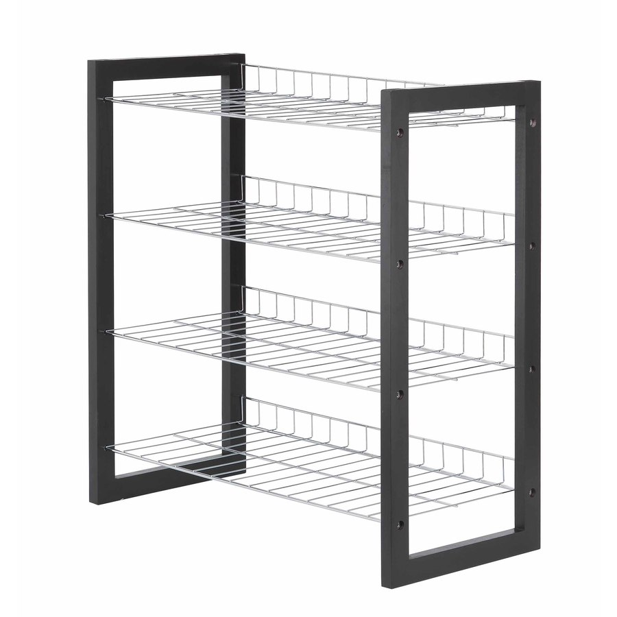 Metal Pro 12-Pair Chrome Plated Metal Shoe Rack
