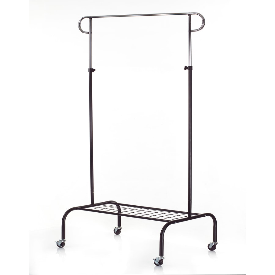 Style Selections Chrome/Black Steel Garment Rack
