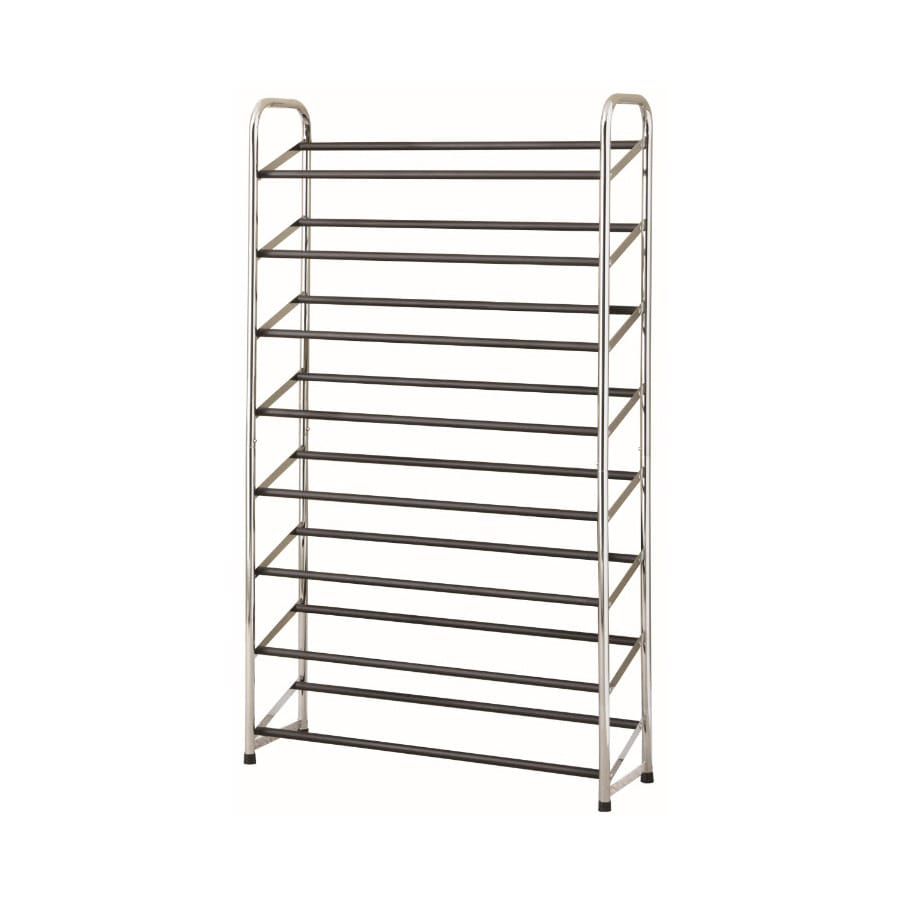 Style Selections 30 Pair Chrome/Black Coated Metal Shoe Rack