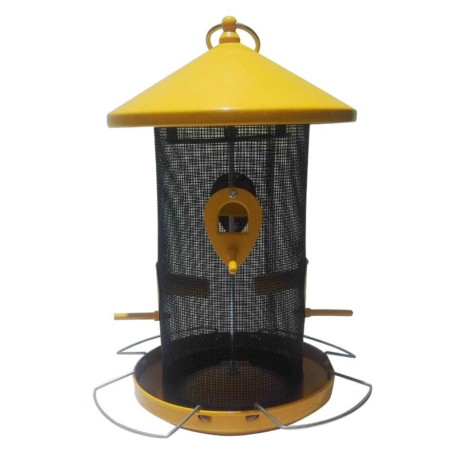 Garden Treasures Yellow/Black Steel Tube Bird Feeder